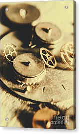 Cog And Gear Workings Acrylic Print by Jorgo Photography - Wall Art Gallery
