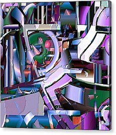 Cog Acrylic Print by Dave Kwinter