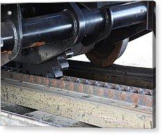 Cog Rail Acrylic Print by Alan Dean