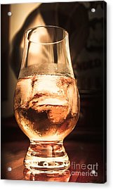 Cognac Glass On Bar Counter Acrylic Print