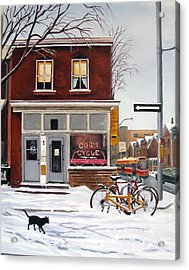 Acrylic Print featuring the painting Cog's Cycle by Margit Sampogna