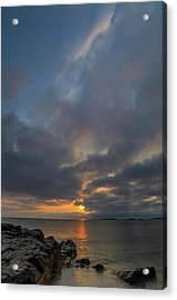 Acrylic Print featuring the photograph Cohasset Massachusetts Sandy Beach Sunrise  by Juergen Roth