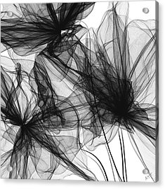 Coherence - Black And White Modern Art Acrylic Print