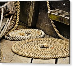 Coiled Rope From Philadelphia II Gunboat Acrylic Print