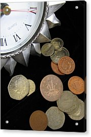 Coins Acrylic Print by Lindie Racz