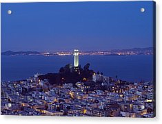 Coit Tower At Dusk San Francisco California Acrylic Print by Carol M Highsmith