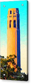 Coit Tower San Francisco Acrylic Print by Wingsdomain Art and Photography