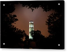 Coit Tower Through The Trees Acrylic Print