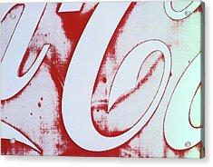 Coke 3 Acrylic Print by Laurie Stewart