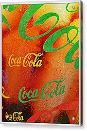 Coke Bubbles Acrylic Print by Kevin D Davis