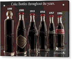 Coke Through Time Acrylic Print by George Pedro