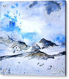 Col Du Pourtalet In The Pyrenees 01 Acrylic Print by Miki De Goodaboom