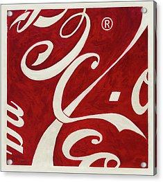 Cola - Coca Acrylic Print by Antonio Ortiz