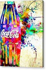 Cola Grunge Acrylic Print by Daniel Janda
