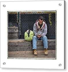 Cold And Alone No Comfort In Sight .... Acrylic Print by Bob Kramer