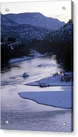 Cold And Blue Acrylic Print by Lynard Stroud