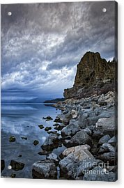Cold Blue Cave Rock Acrylic Print