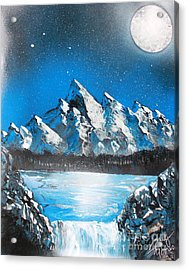 Acrylic Print featuring the painting Cold Blue by Greg Moores