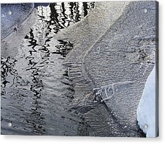 Cold Enough To Frost A Stick Acrylic Print