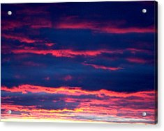 Cold Front Sunset One Acrylic Print by Ana Villaronga