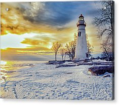 Cold Morning Acrylic Print by Jack R Perry