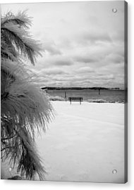 Cold Park Bench Acrylic Print