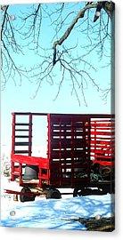 Cold Red Alone Acrylic Print by Cyryn Fyrcyd