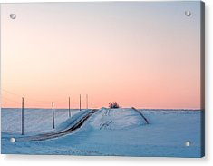 Cold Resolute Acrylic Print