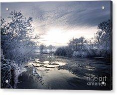 Cold River Flow Acrylic Print by Angel  Tarantella