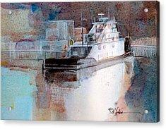 Cold River Acrylic Print by Robert Yonke