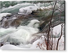 Acrylic Print featuring the photograph Cold Rush by Timothy McIntyre