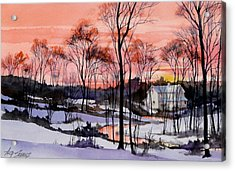 Cold Sunset Acrylic Print by Art Scholz