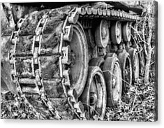 Cold War Rust Black And White Acrylic Print by JC Findley