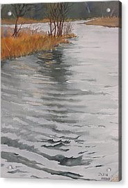 Cold Water Acrylic Print by Debbie Homewood