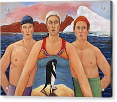 Cold Water Swimmers Acrylic Print by Paula Wittner