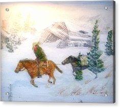 Cold Wind Oklahoma Artist Larry Lamb  Acrylic Print