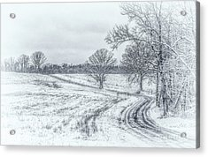 Cold Winter Morning Sketch Acrylic Print
