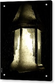 Cold Winter Night Acrylic Print by Ed Smith