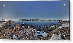 Cole River Swansea Mercator Acrylic Print by Christopher Blake