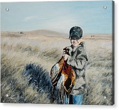 Cole's Pheasant Acrylic Print by Conny Riley