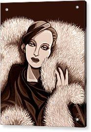 Colette In Sepia Tone Acrylic Print by Tara Hutton