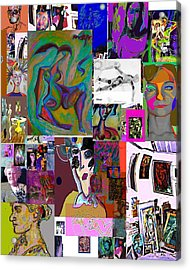 Collage 9 Acrylic Print by Noredin Morgan