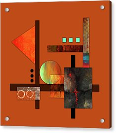 Collage Abstract 9 Acrylic Print