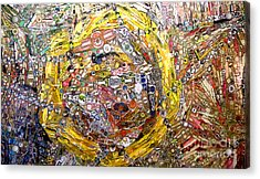 Collage Abstract Acrylic Print by Mindy Newman