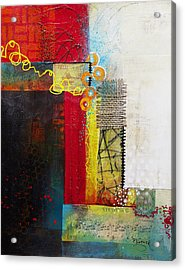 Acrylic Print featuring the painting Collage Art 1 by Patricia Lintner