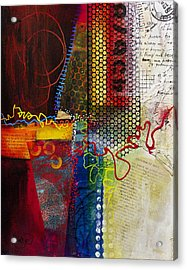 Acrylic Print featuring the painting Collage Art 2 by Patricia Lintner