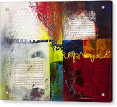 Acrylic Print featuring the painting Collage Art 3 by Patricia Lintner