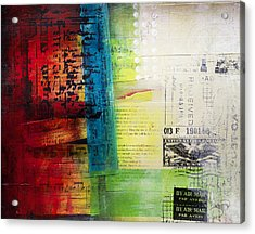 Acrylic Print featuring the painting Collage Art 4 by Patricia Lintner