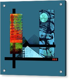 Collage Landscape 1 Acrylic Print by Patricia Lintner