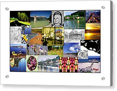 Collage Photography 1999-2009 By Sascha Meyer Acrylic Print by Sascha Meyer
